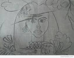 pencil sketch of women empowerment desipainters com