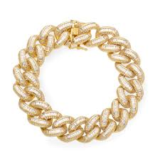 yellow gold cuban link bracelet images 19mm iced cuban link bracelet in yellow gold spicyice jpg