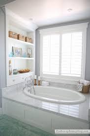 marble bathtub master bathroom shelves tub the sunny side up blog