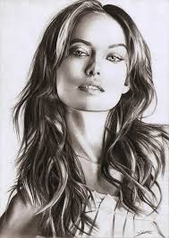 photos women portraits drawn by pencil drawing art gallery