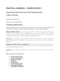 practical handbook bpo training manual 2008 call centre