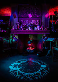 halloween lighting ideas i like the crescent on this magic circle this is halloween