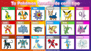 pick your favorite pokemon of each type with this easy image