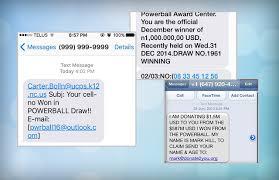 facebook powerball text scam detector