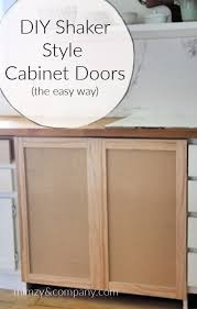 how to turn kitchen cabinets into shaker style diy shaker cabinet doors the easy way mimzy company