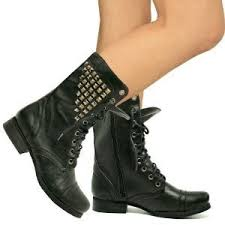 womens boots on amazon womens army lace up studded flat ankle boo
