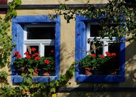 home curb appeal photo photos flower pots red geraniums windows