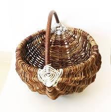 wicker basket bag outdoor planter garden planters garden decor