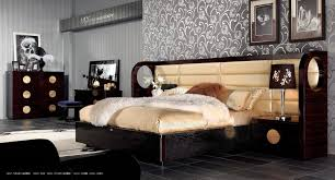 Black Lacquer Bedroom Furniture Modern Leather And Lacquer Bed