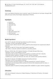 Resume Examples Entry Level by Download Senior Network Engineer Sample Resume
