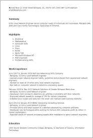 Sample Resume Computer Skills by Download Senior Network Engineer Sample Resume