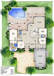 pool house blueprints pool house plans with courtyard for pinterest