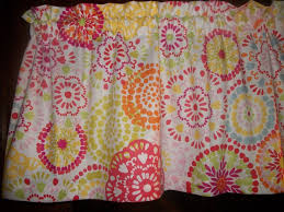 lime green pink orange circles retro waverly fabric curtain topper