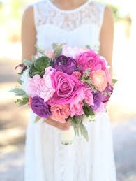 Shabby Chic Purple by Silk Bride Bouquet Purple Lavender Pink Roses Peonies Wildflowers