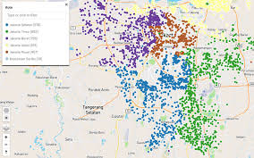 Map Of Jakarta Ona Blog 3 725 Health Posts Mapped In Jakarta In A Massive
