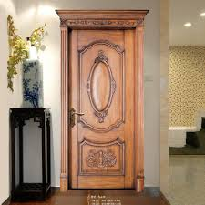 modern new timber door design internal solid panel wooden doors