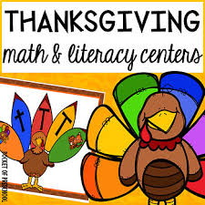 thanksgiving math and literacy centers for preschool pre k and
