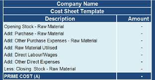Excel Costing Template Cost Sheet With Cogs Excel Template Exceldatapro