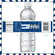 sports invites indianapolis colts football bottle labels