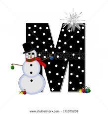 letter m alphabet set frosty black stock illustration 171075209