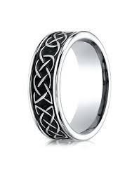 mens wedding bands cobalt dundee cobalt celtic knot wedding band for by benchmark