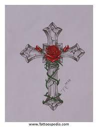cross roses 2