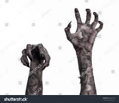 halloween theme background terrible zombie hands dirty hands mummy stock photo 226861555