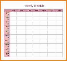 10 week schedule template cashier resume