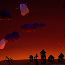 halloween wallpaper for ipad download halloween cute ghosts village wallpaper for ipad
