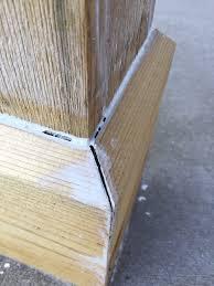 gaps in cedar porch column caulk or filler painting page 2
