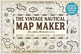 the vintage nautical map maker add ons creative market