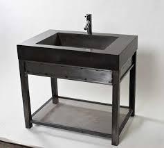 Bathroom Vanity New York by Vanity With Charcoal Concrete Sink Modern Bathroom Vanities And