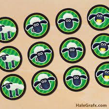 printable shaun sheep cupcake toppers