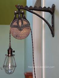 pulley pendant light fixtures lighting licious pulley light fixture barn system fixtures vintage