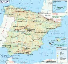 physical map of spain geography environment spain