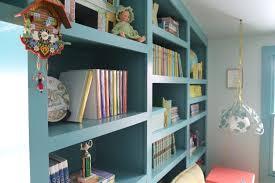Blue Bookcases Storybook U0027s Room Makeover