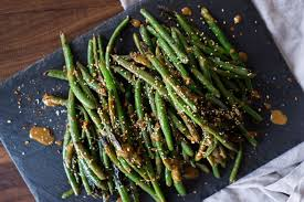 green beans with tangy sesame sauce recipe on food52