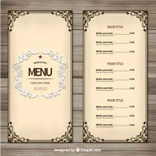 menu templates best 25 menu templates ideas on food menu template