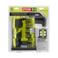 ryobi dockit drilling and driving kit with storage tray 56 piece