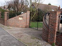 bricklayer brickwork walls built garden gates