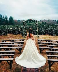this couple u0027s christmas tree farm wedding is the ultimate holiday