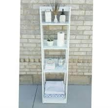 bathroom ladder shelf in bathroom diy ladder shelf plans book