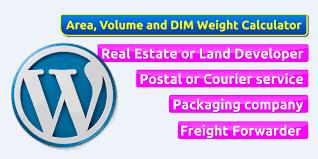 wordpress area volume weight calculator miscellaneous wordpress