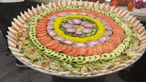 wedding platter salad tray prepared for an indian wedding lunch rebrn