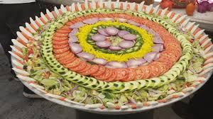 wedding platter salad tray prepared for an indian wedding lunch rebrn