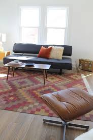 Midcentury Modern Rugs Kilim Rug And Mid Century Modern Vintage Coffee Table Modern
