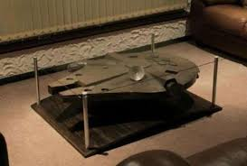 man cave coffee table sci fi spaceship coffee tables millennium falcon coffee table