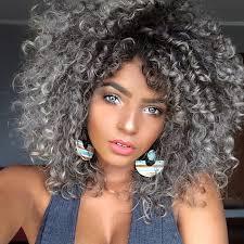 naturally curly gray hair bruna ramos gray hair eye and curly