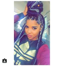 grey and purple combined together style box breads pinterest xpiink hair styles pinterest purple box braids