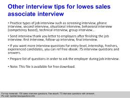 Resume For Lowes Examples by Lowes Sales Associate Interview Questions And Answers